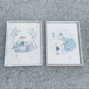 VTG A Lambert framed children nursery prints USA